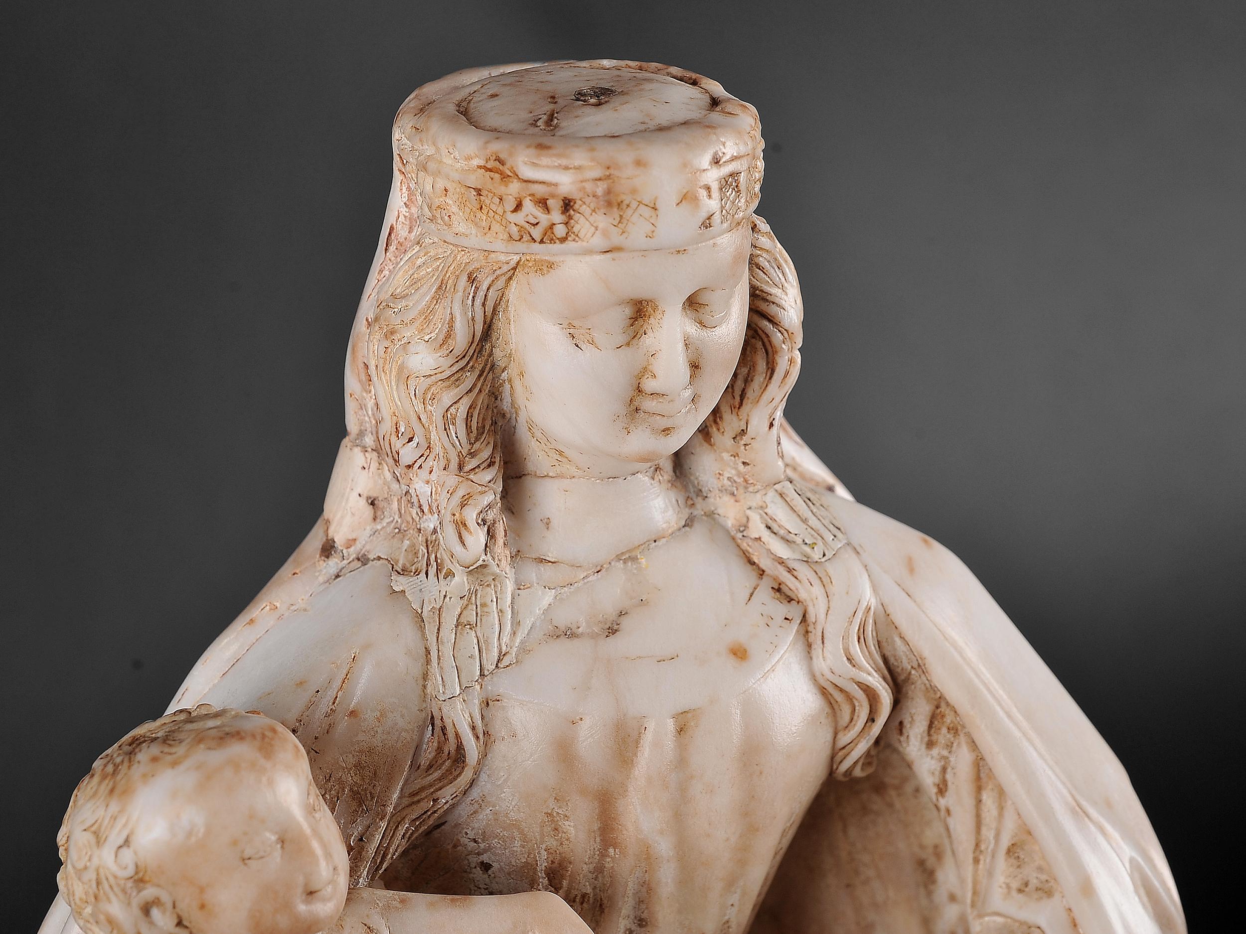 Gil de Siloe, Antwerpen 1440 – 1501 Burgos (und Werkstatt), Sitzende Madonna, um 1485/90 - Image 13 of 25