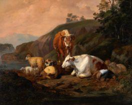 Friedrich Voltz, Nördlingen 1817 - 1887 München, Kühe auf der Weide, Gemälde