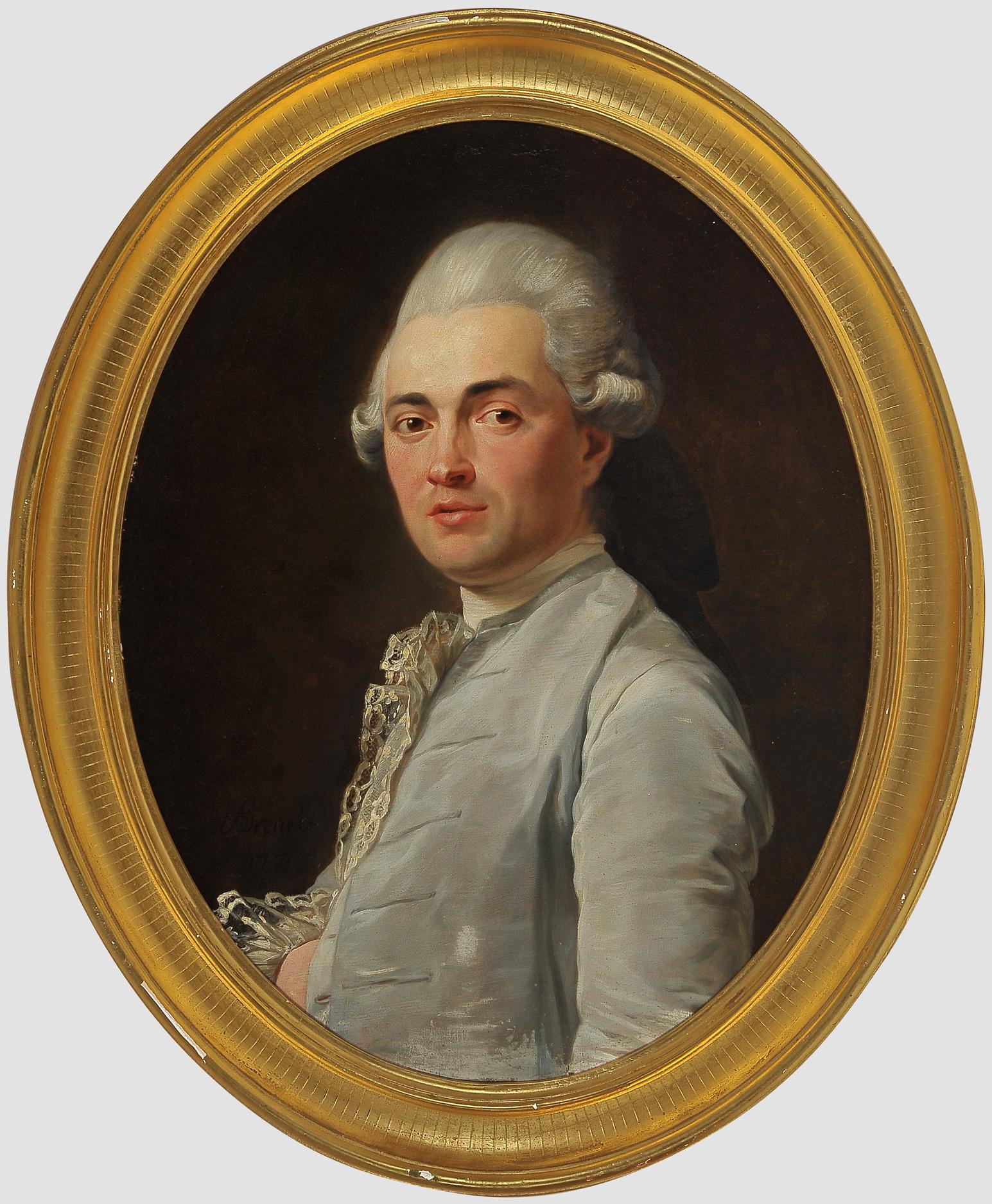 "Nicolas Guy Brenet, Paris 1728 – 1792 Paris, Portraits des Ehepaares ""Von Schauenstein"" - Image 2 of 11"
