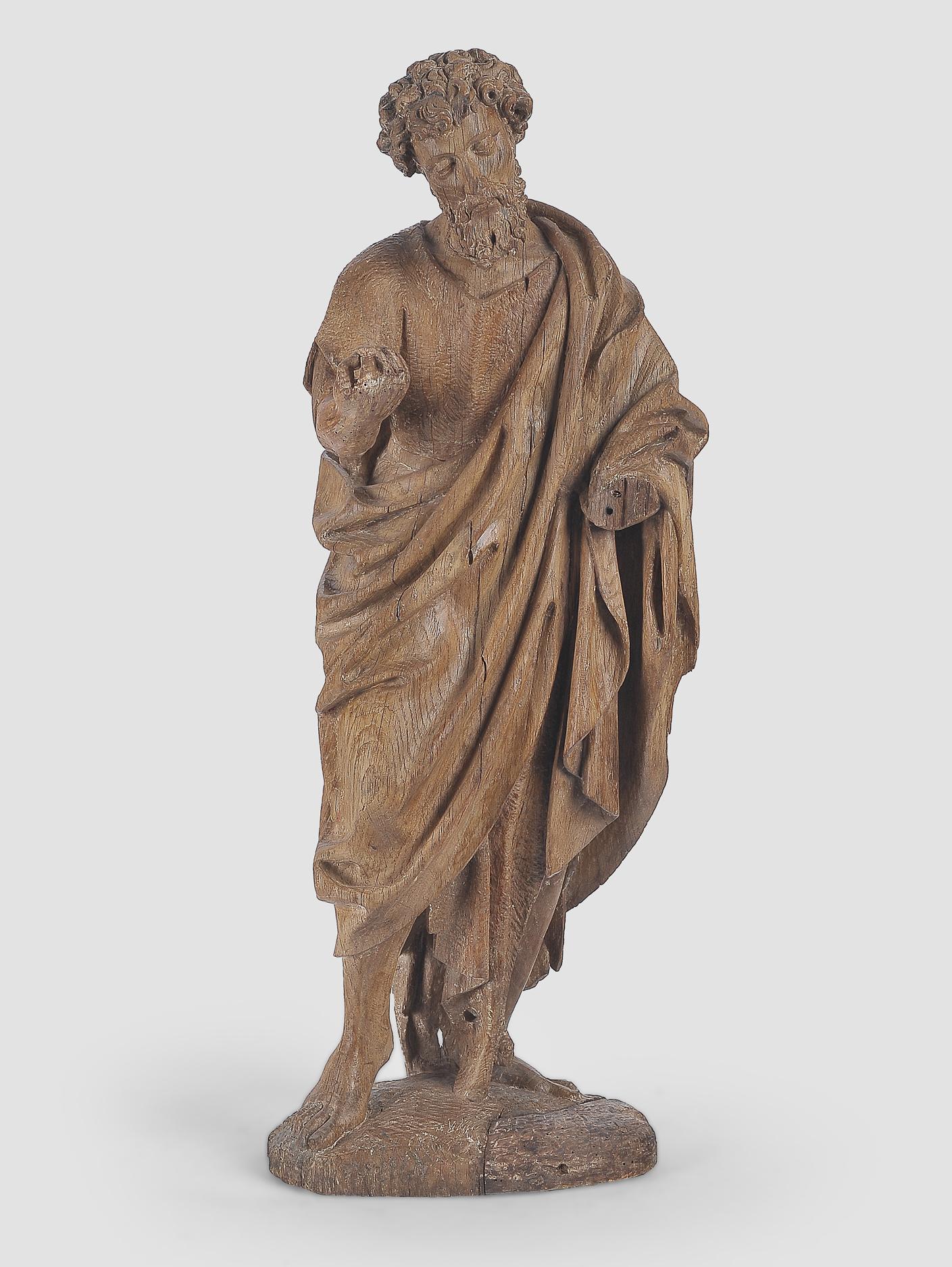Heiliger Johannes der Täufer, Flämisch um 1500, Eichenholz