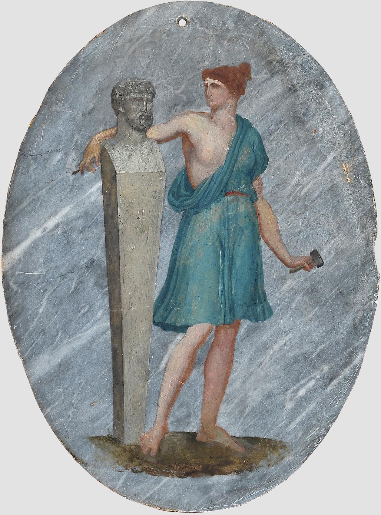 Allegorie der Malerei und Bildhauerei, Huldigung an die Künste der Malerei & Bildhauerei - Image 2 of 5