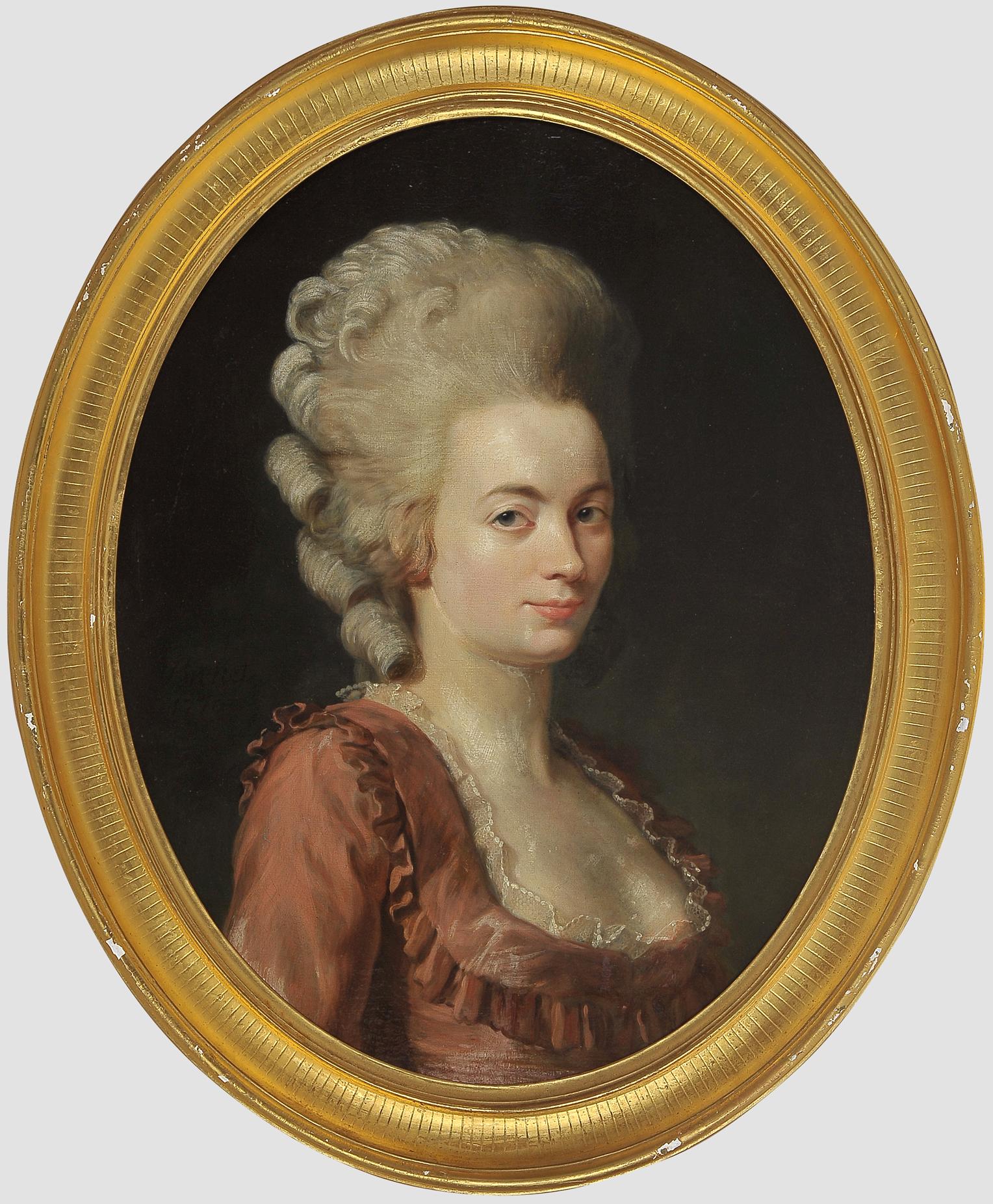 "Nicolas Guy Brenet, Paris 1728 – 1792 Paris, Portraits des Ehepaares ""Von Schauenstein"" - Image 3 of 11"