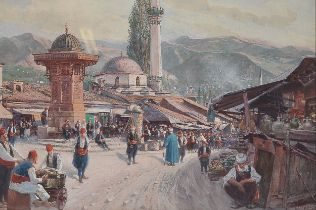 Carl Pippich, Wien 1862 – 1932 Wien, Motiv aus Bosnien