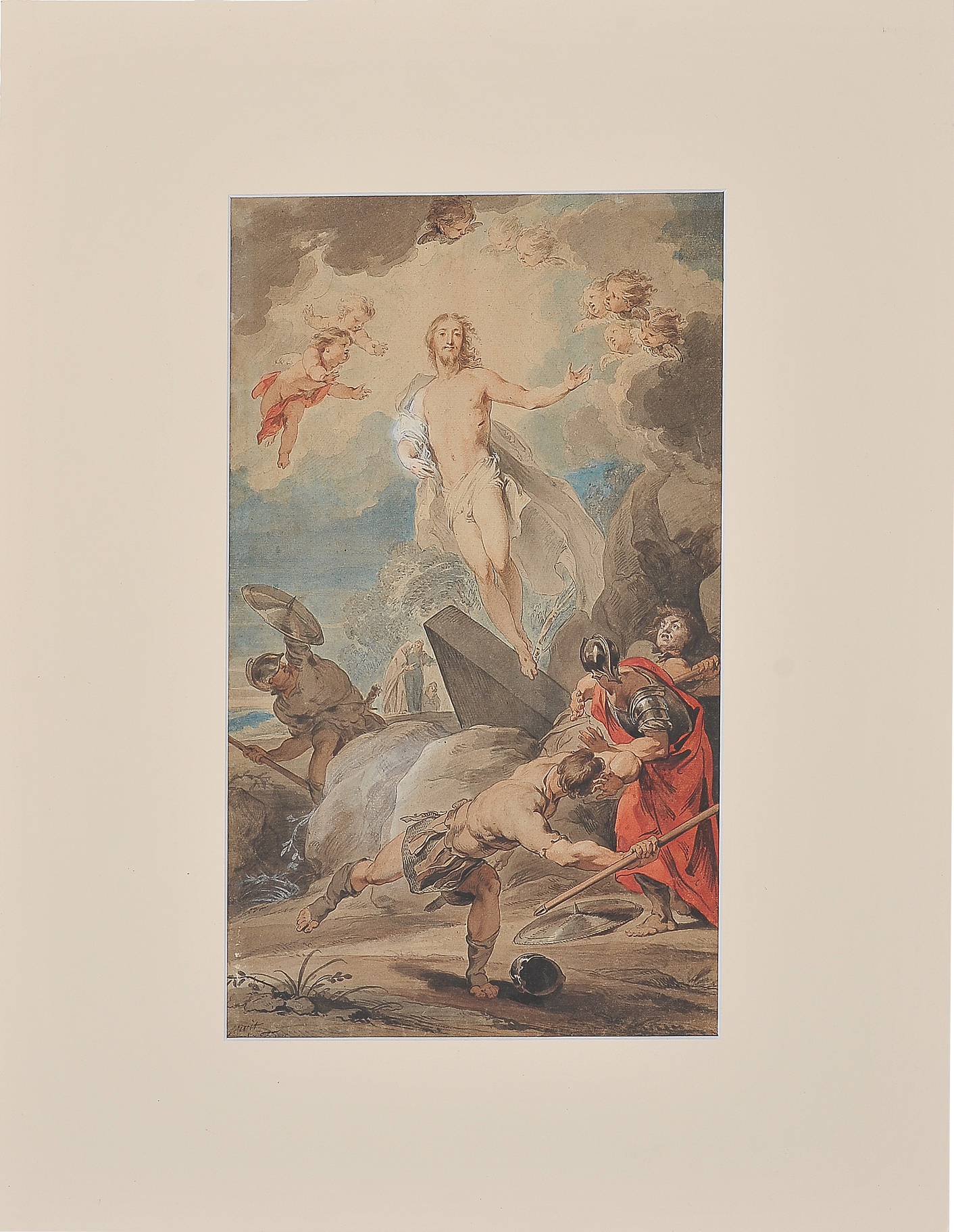 Jakob de Witt, Amsterdam 1695 - 1754, Auferstehung - Image 7 of 9