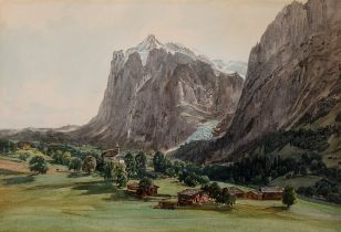 Thomas Ender, Wien 1793 – 1875 Wien, Motiv aus Südtirol, Aquarell