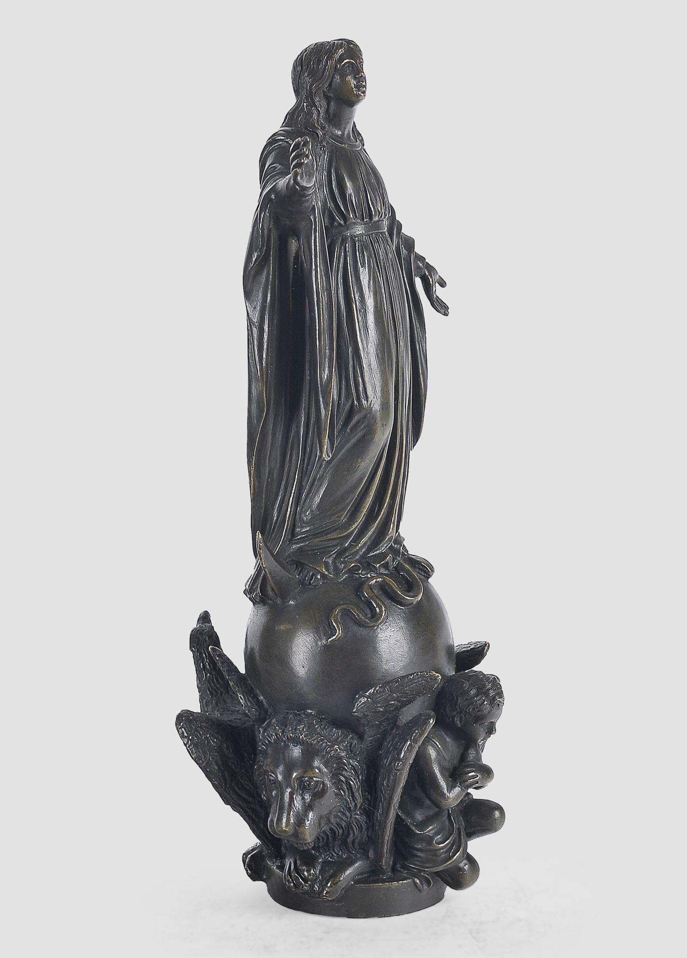 Maria Immaculata, Barock, 17. / 19. Jahrhundert, Bronze - Image 3 of 9
