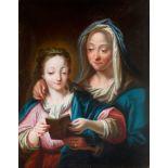 Ignaz Stern, detto Stella, Mauerkirchen 1679 – 1748 Rom (zug.), Anna die Maria das Lesen lehrt