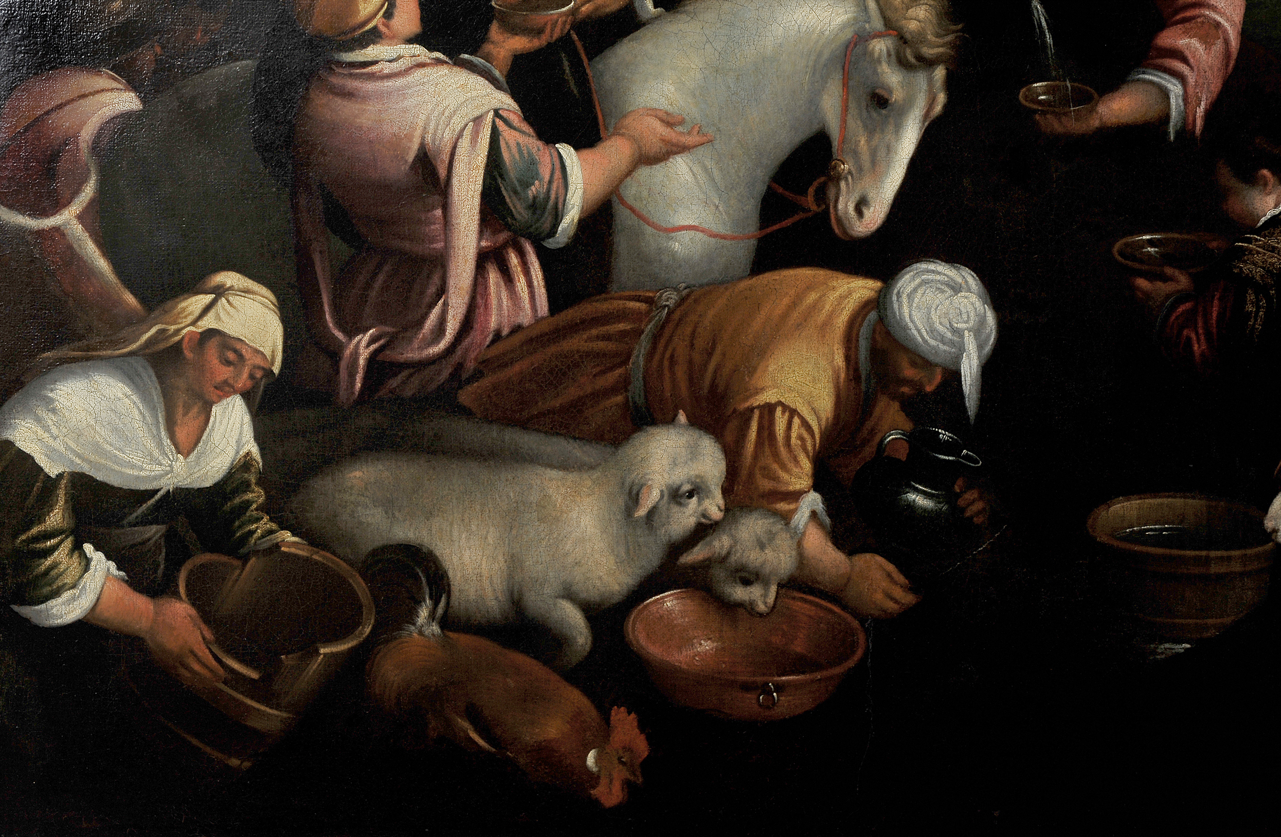 Leandro Bassano, Bassano del Grappa 1575 – 1622 Venedig (Werkstatt), Tiere an der Tränke - Image 5 of 11