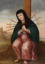 Mater Dolorosa, Gemälde, Spanien um 1700