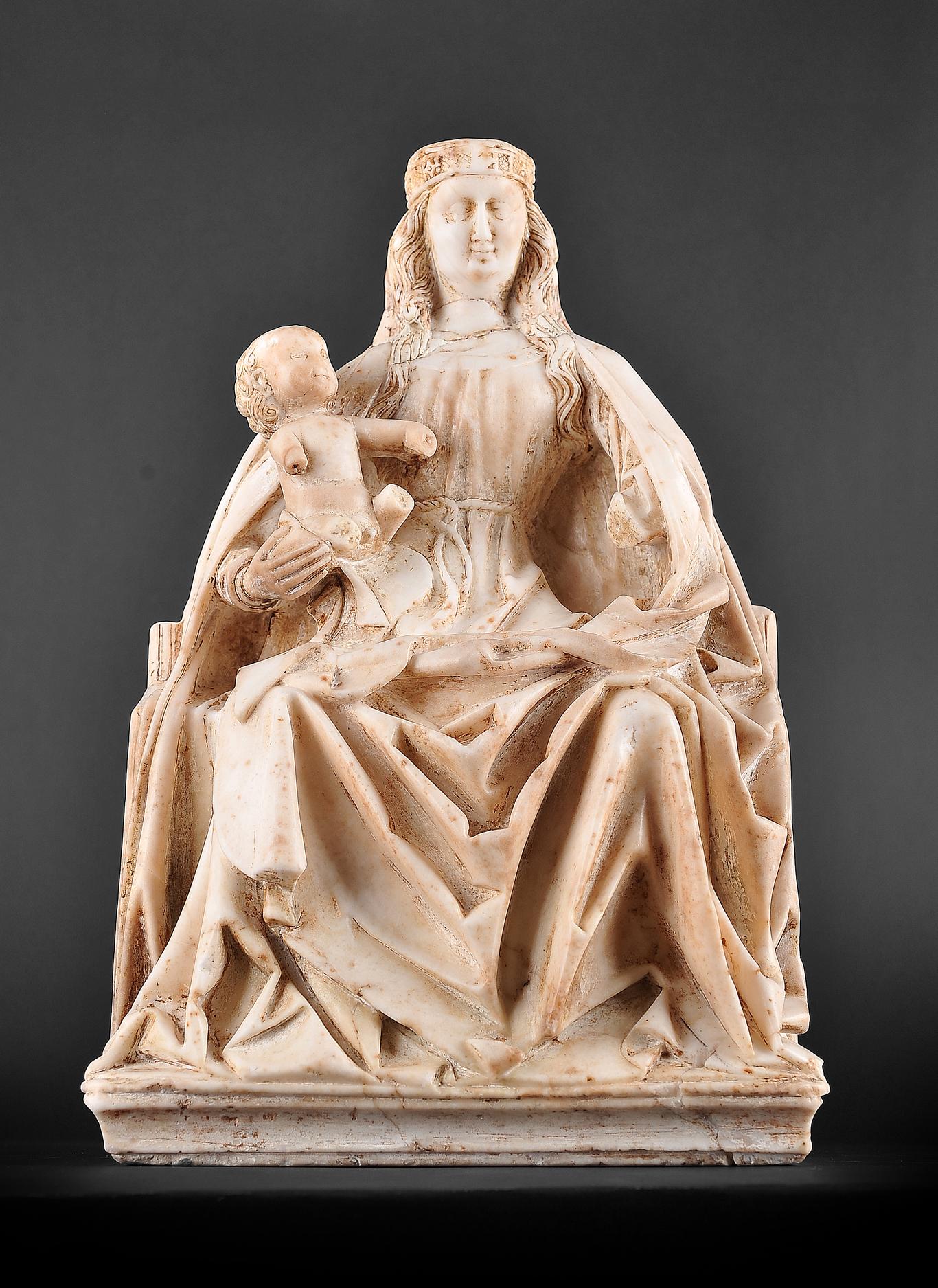 Gil de Siloe, Antwerpen 1440 – 1501 Burgos (und Werkstatt), Sitzende Madonna, um 1485/90 - Image 3 of 25