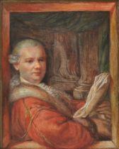 Portrait eines Edelmannes, Freiherr von Weinbrenner, Biedermeier, um 1830/40