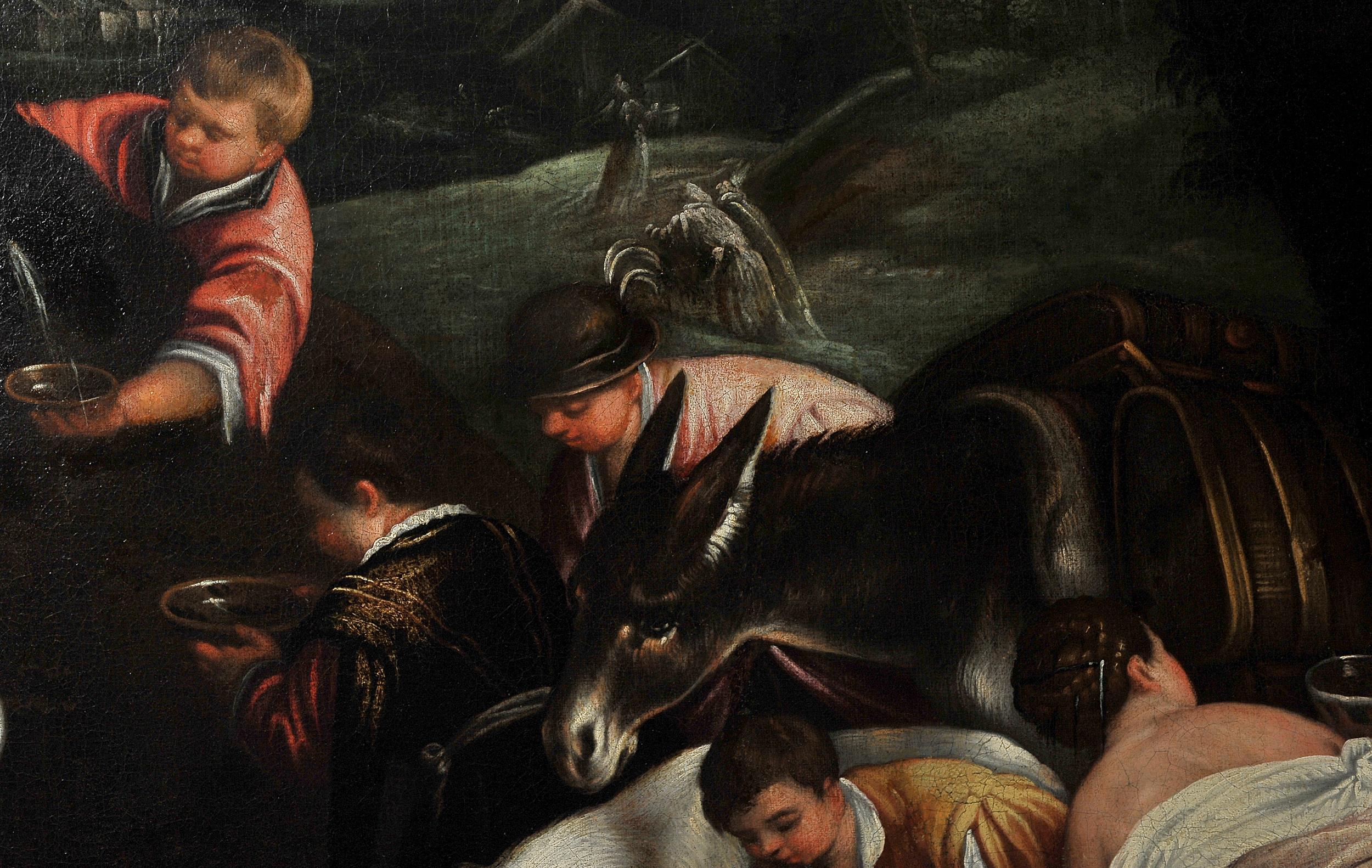 Leandro Bassano, Bassano del Grappa 1575 – 1622 Venedig (Werkstatt), Tiere an der Tränke - Image 8 of 11