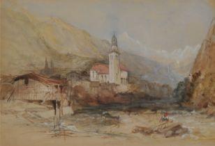 William Collingwood Smith, Greenwich 1815 – 1887 London, Südtiroler Gebirgslandschaft