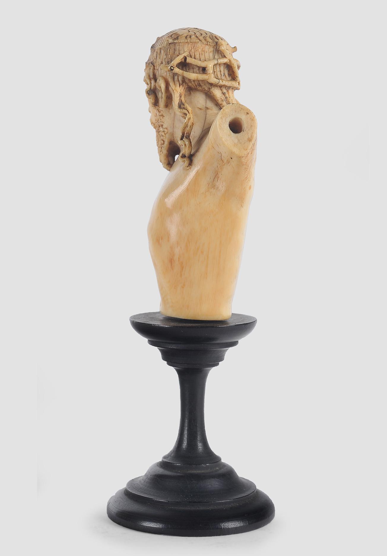 Museale Christus Büste, Spanien um 1500, Elfenbein - Image 3 of 7