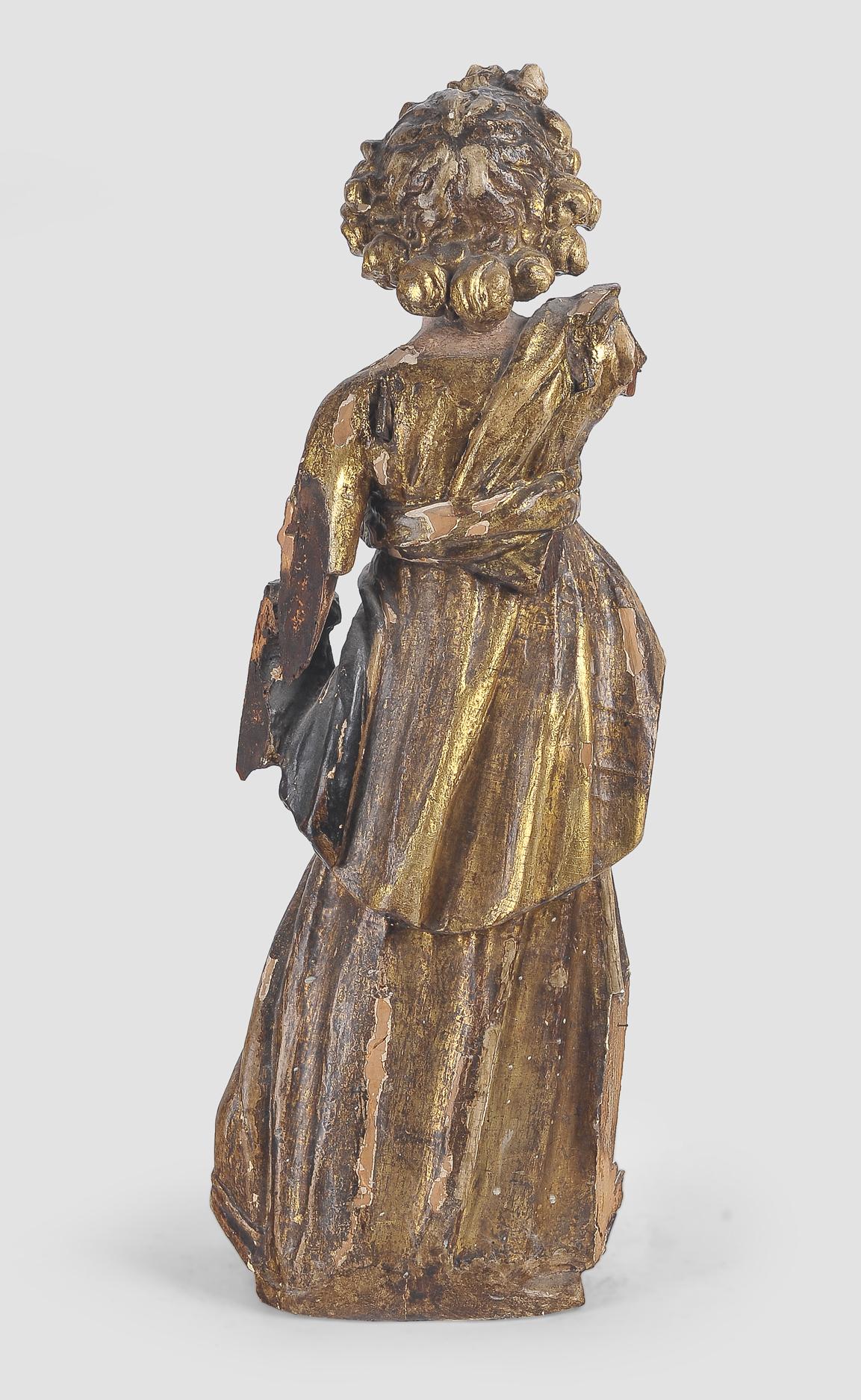 Stehender Engel, Süddeutsch, 17. Jahrhundert - Image 5 of 5