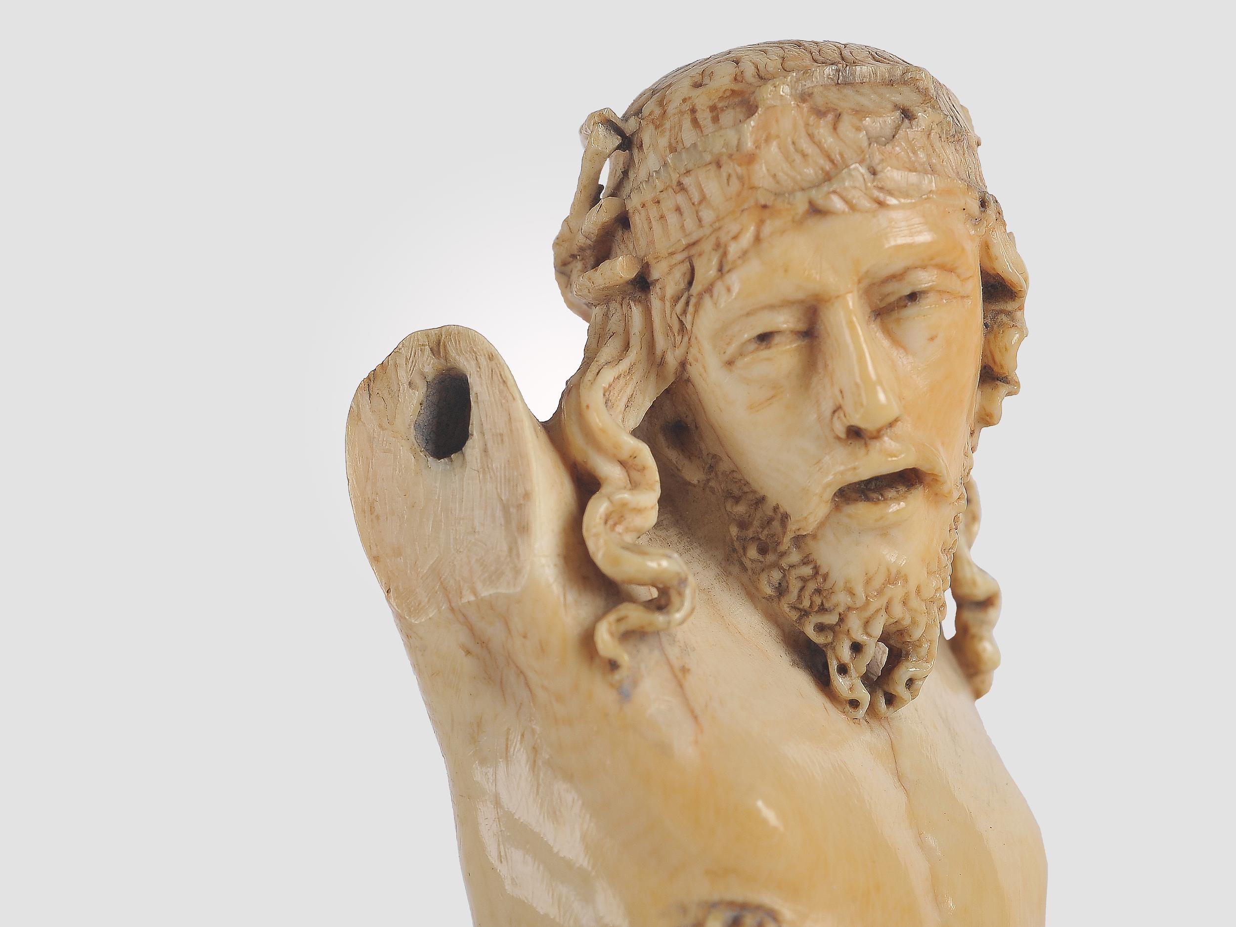 Museale Christus Büste, Spanien um 1500, Elfenbein - Image 6 of 7