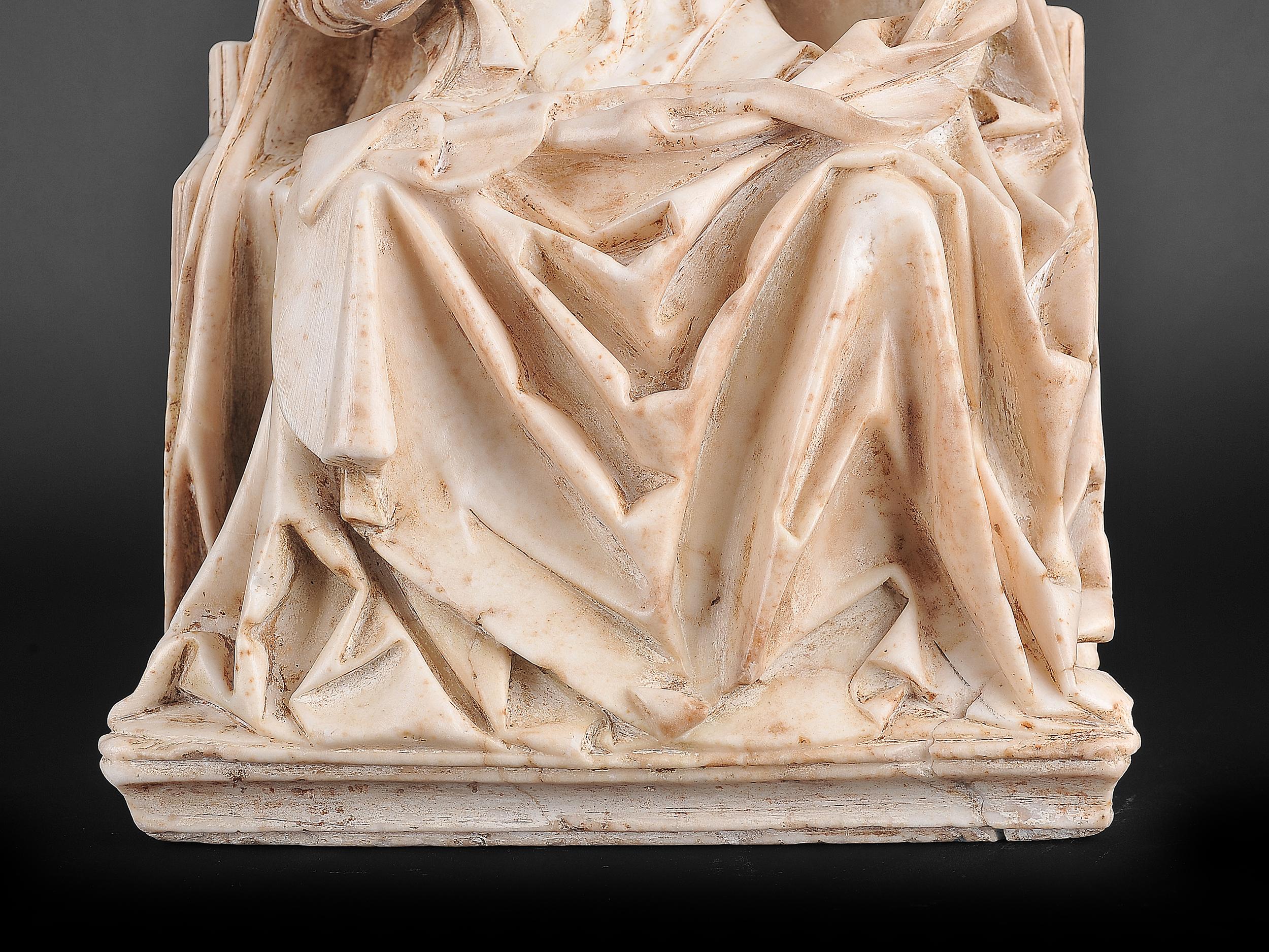 Gil de Siloe, Antwerpen 1440 – 1501 Burgos (und Werkstatt), Sitzende Madonna, um 1485/90 - Image 15 of 25