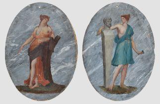 Allegorie der Malerei und Bildhauerei, Huldigung an die Künste der Malerei & Bildhauerei