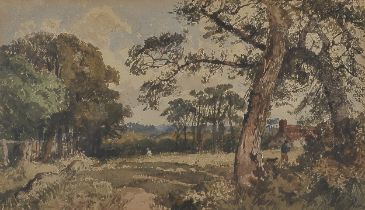 Aquarell, Landschaft, 19. Jahrhundert