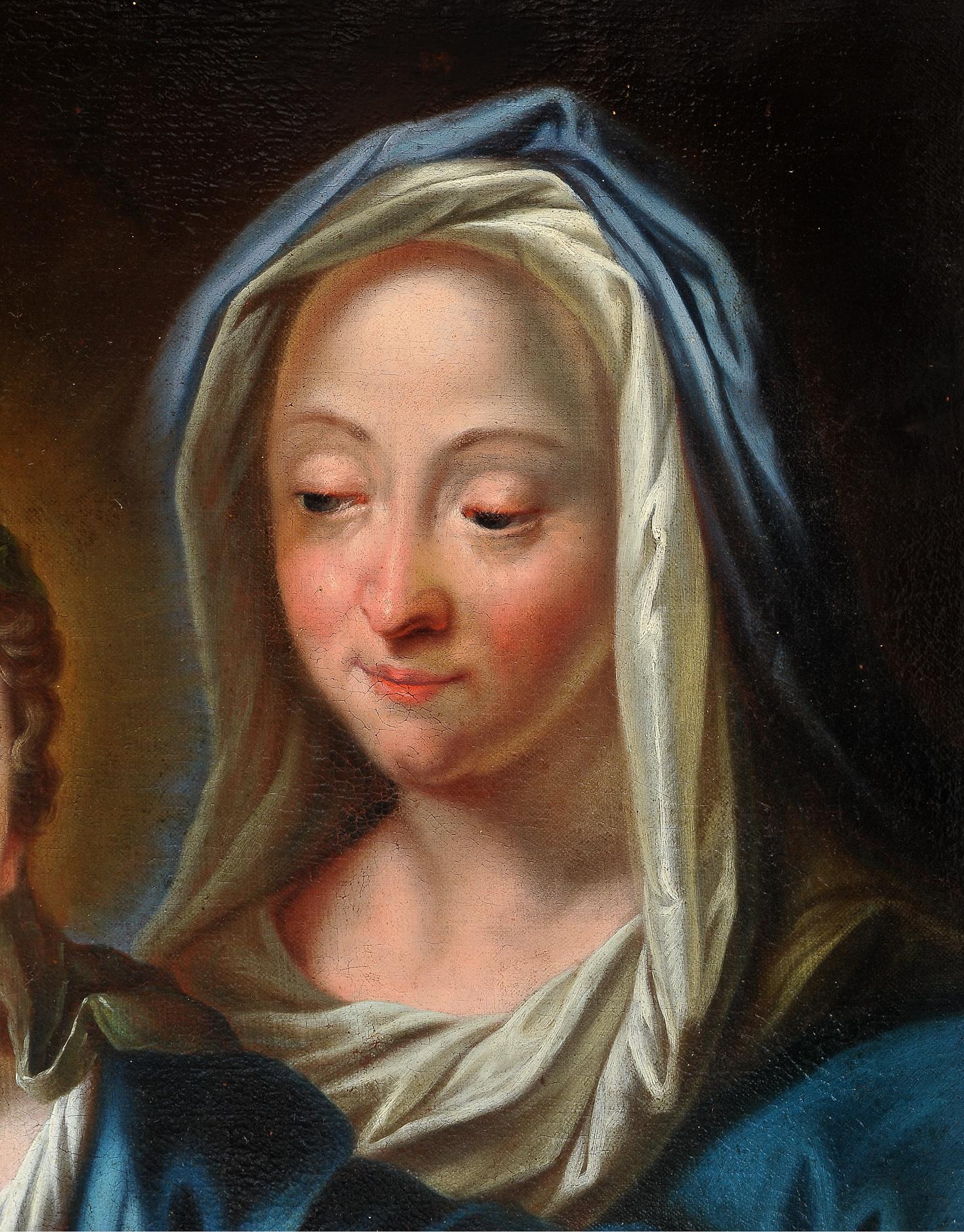 Ignaz Stern, detto Stella, Mauerkirchen 1679 – 1748 Rom (zug.), Anna die Maria das Lesen lehrt - Image 3 of 6