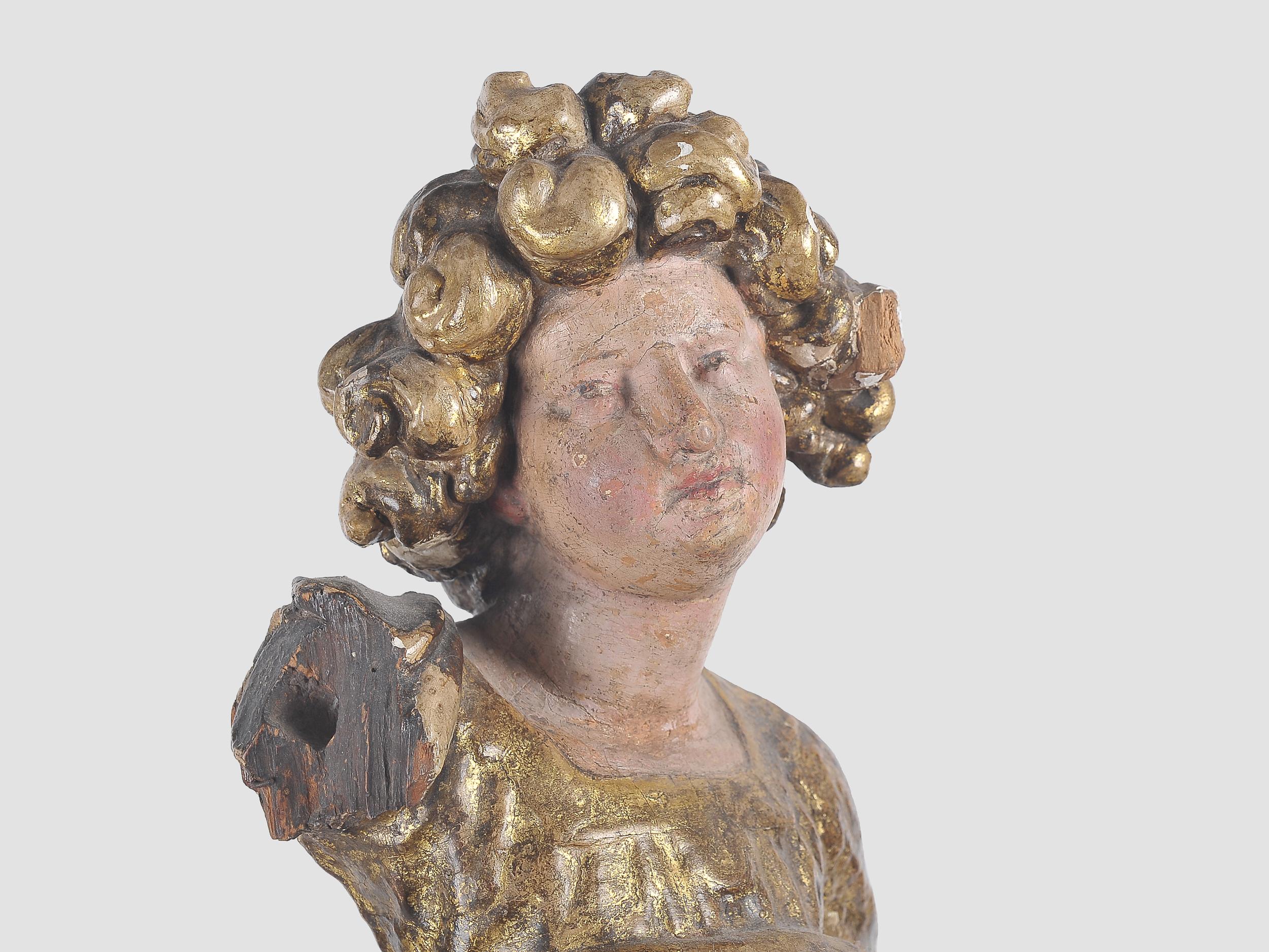 Stehender Engel, Süddeutsch, 17. Jahrhundert - Image 4 of 5
