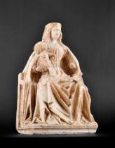 Gil de Siloe, Antwerpen 1440 – 1501 Burgos (und Werkstatt), Sitzende Madonna, um 1485/90