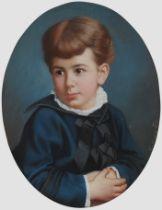 Joseph Huttary, Aicha 1841 – 1890 Prag, Portrait eines Knaben
