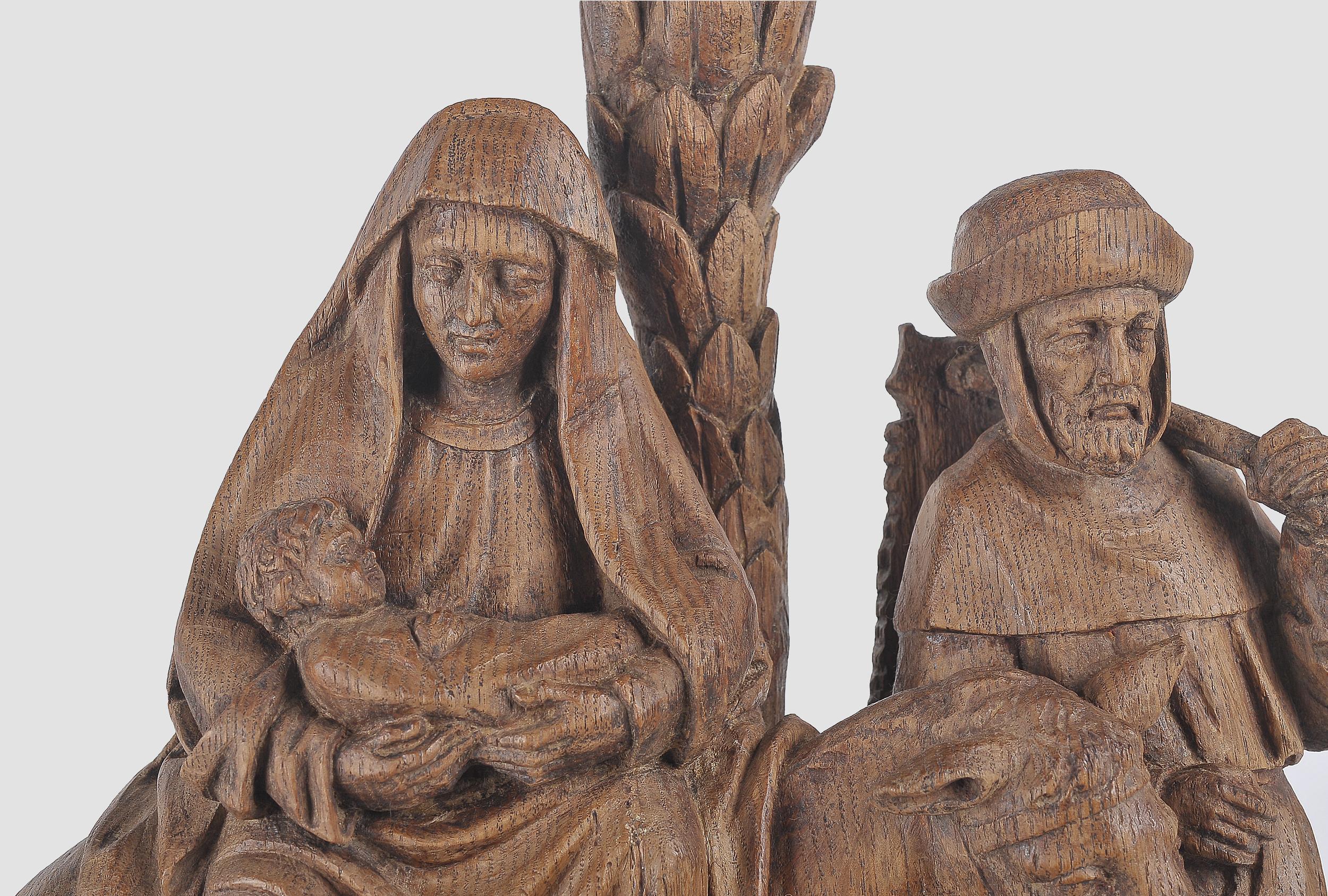 Flucht nach Ägypten, Flämisch um 1500, Eichenholz - Image 2 of 4