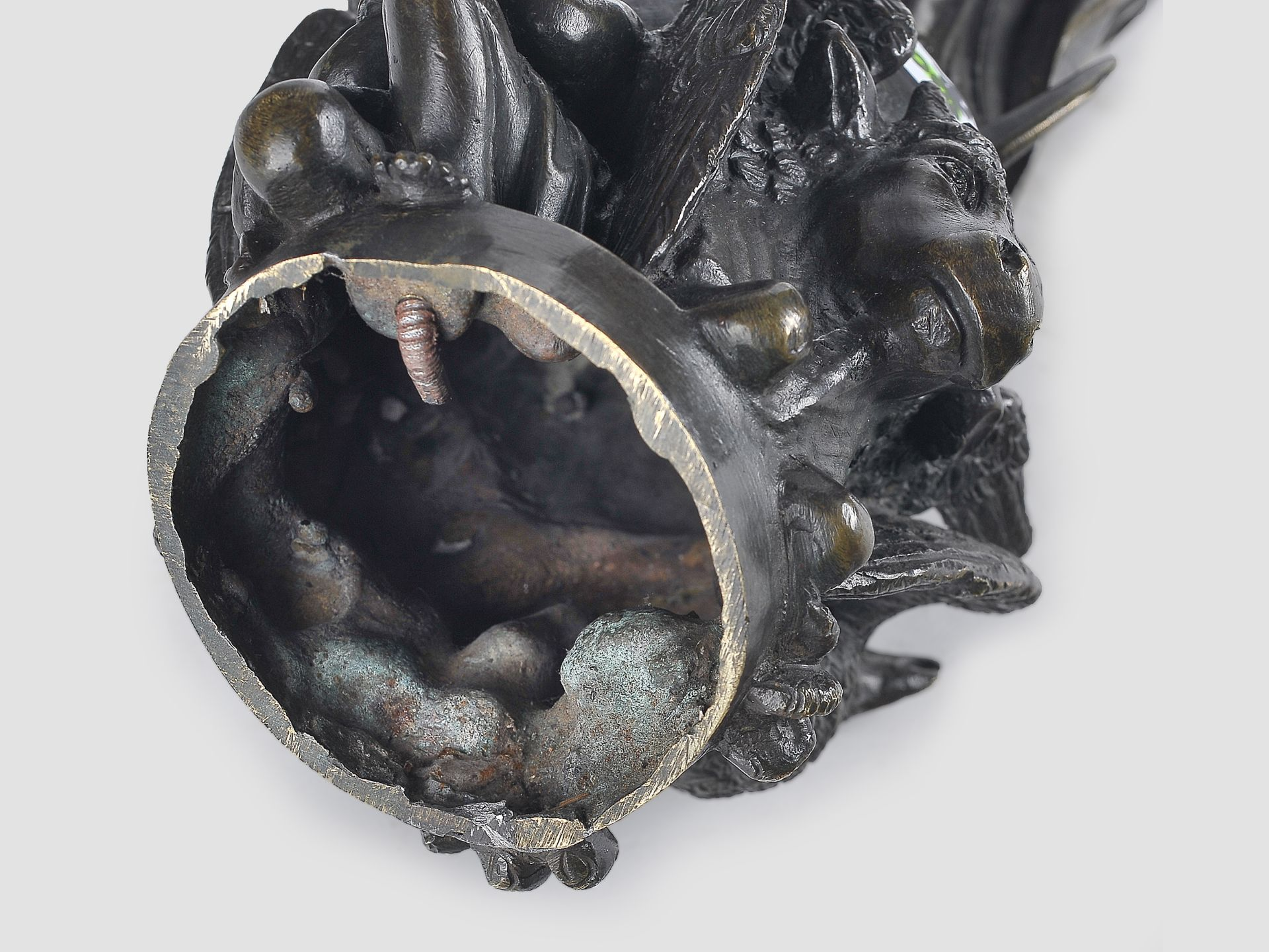 Maria Immaculata, Barock, 17. / 19. Jahrhundert, Bronze - Image 8 of 9