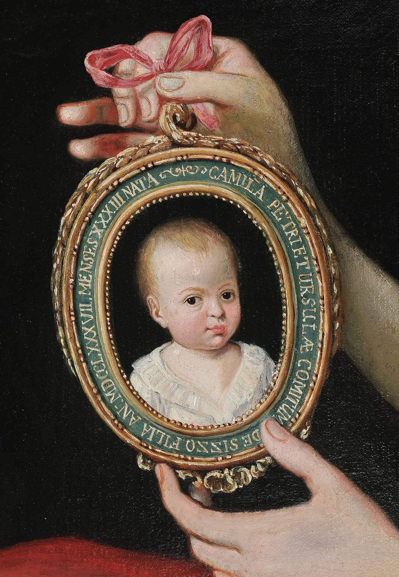 Adeliges Portraitgemälde, Italien oder Donaumonarchie - Image 3 of 5