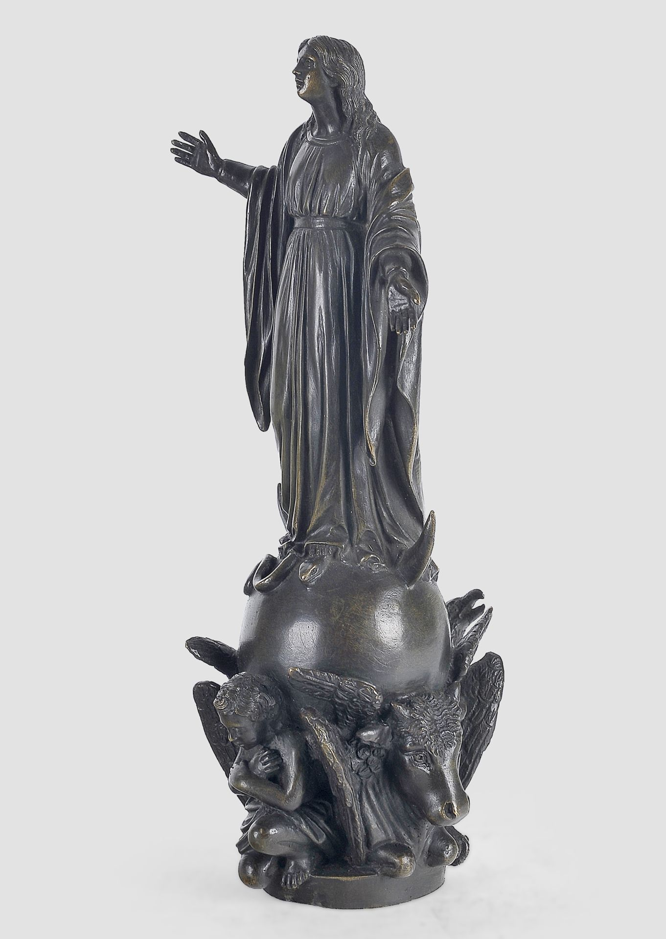 Maria Immaculata, Barock, 17. / 19. Jahrhundert, Bronze - Image 2 of 9