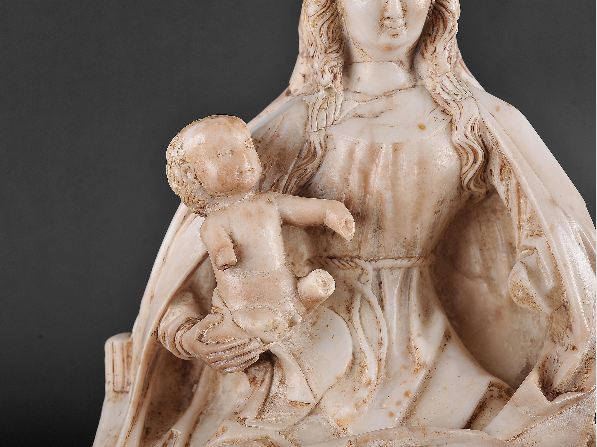 Gil de Siloe, Antwerpen 1440 – 1501 Burgos (und Werkstatt), Sitzende Madonna, um 1485/90 - Image 11 of 25