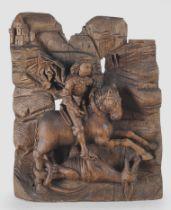 Meisterliches Relief, Heiliger Georg, Süddeutsch um 1500