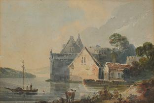 George Robertson, London 1748 – 1788 Newington, Weiher am Fluss