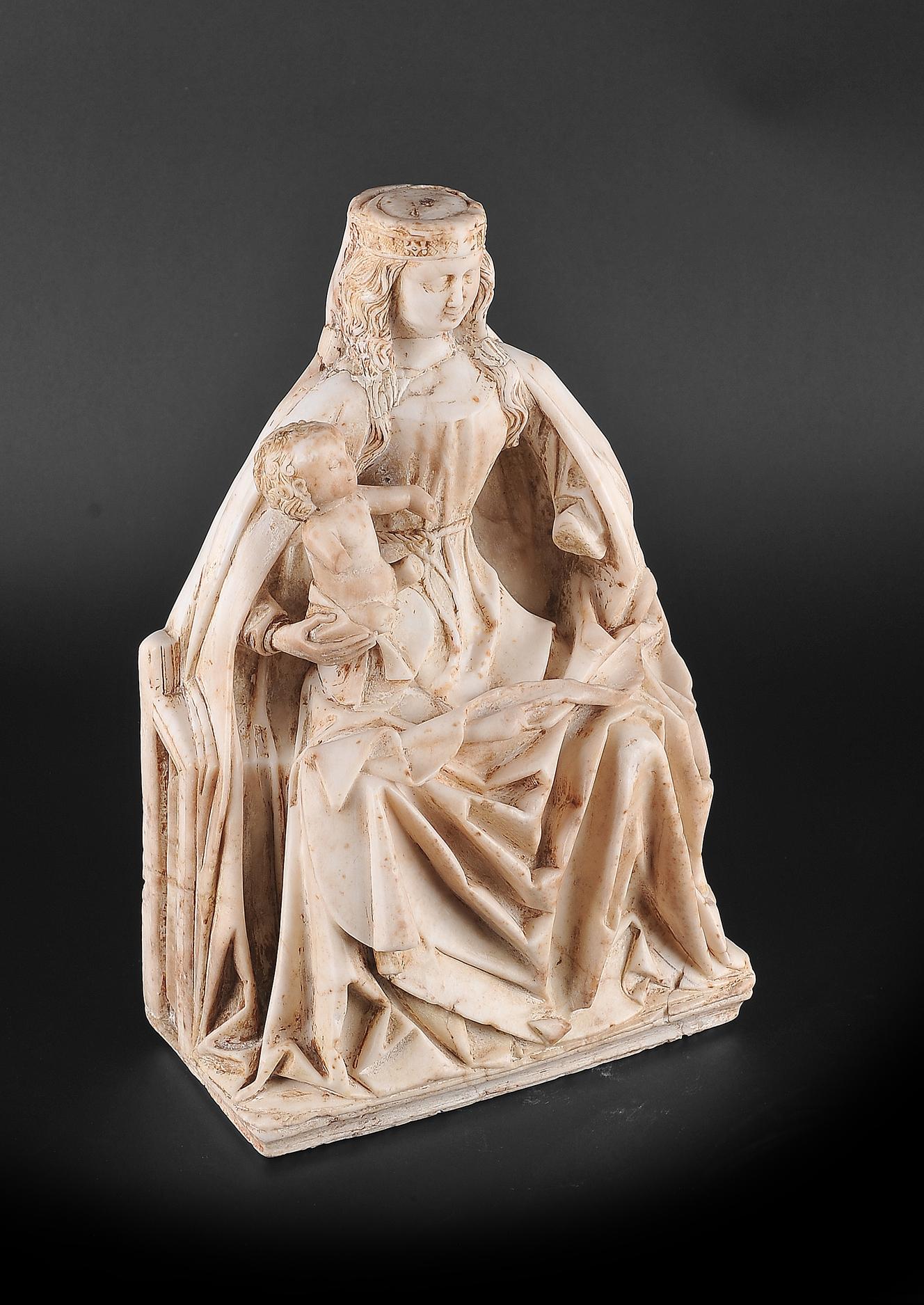 Gil de Siloe, Antwerpen 1440 – 1501 Burgos (und Werkstatt), Sitzende Madonna, um 1485/90 - Image 6 of 25