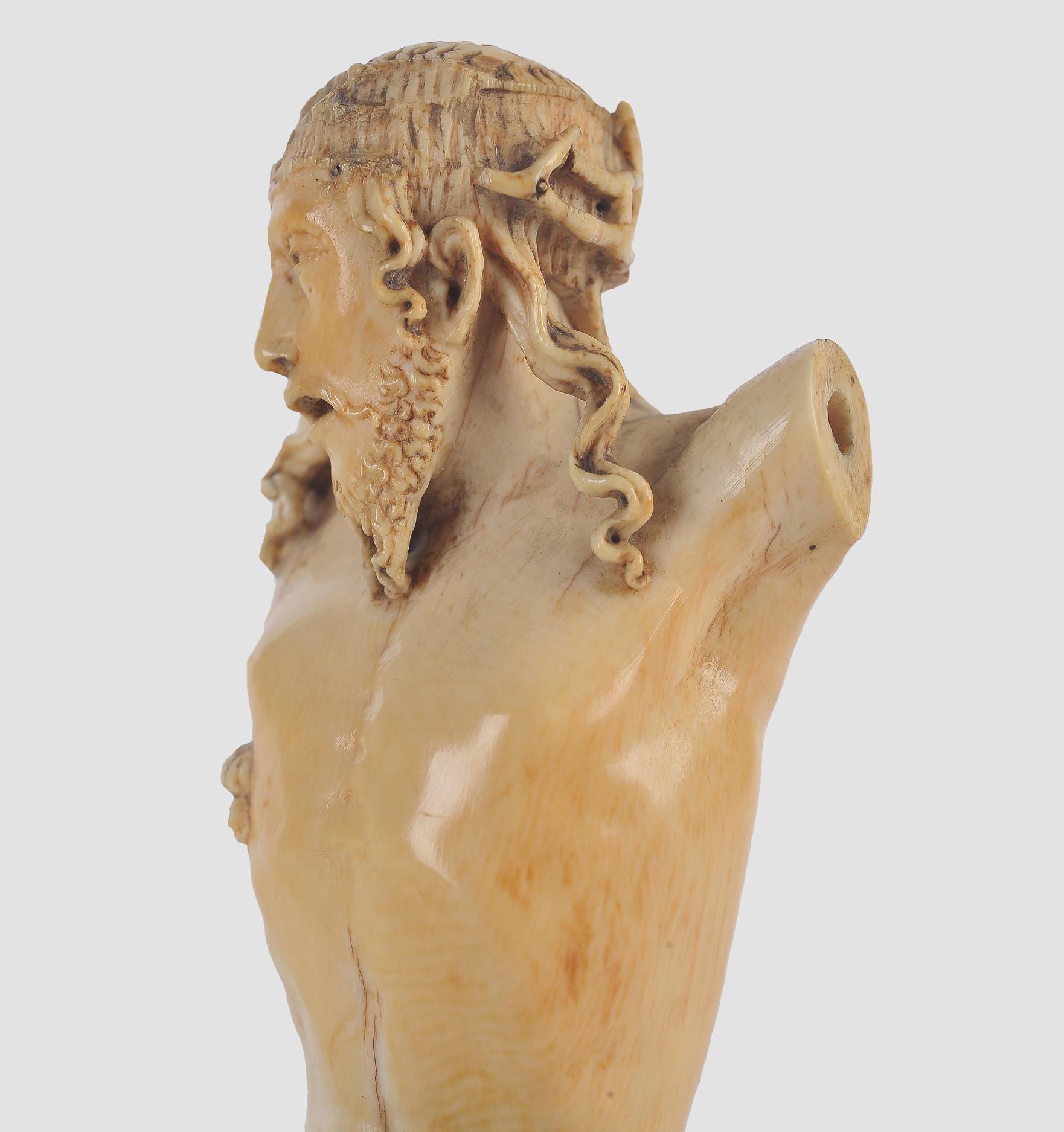 Museale Christus Büste, Spanien um 1500, Elfenbein - Image 5 of 7