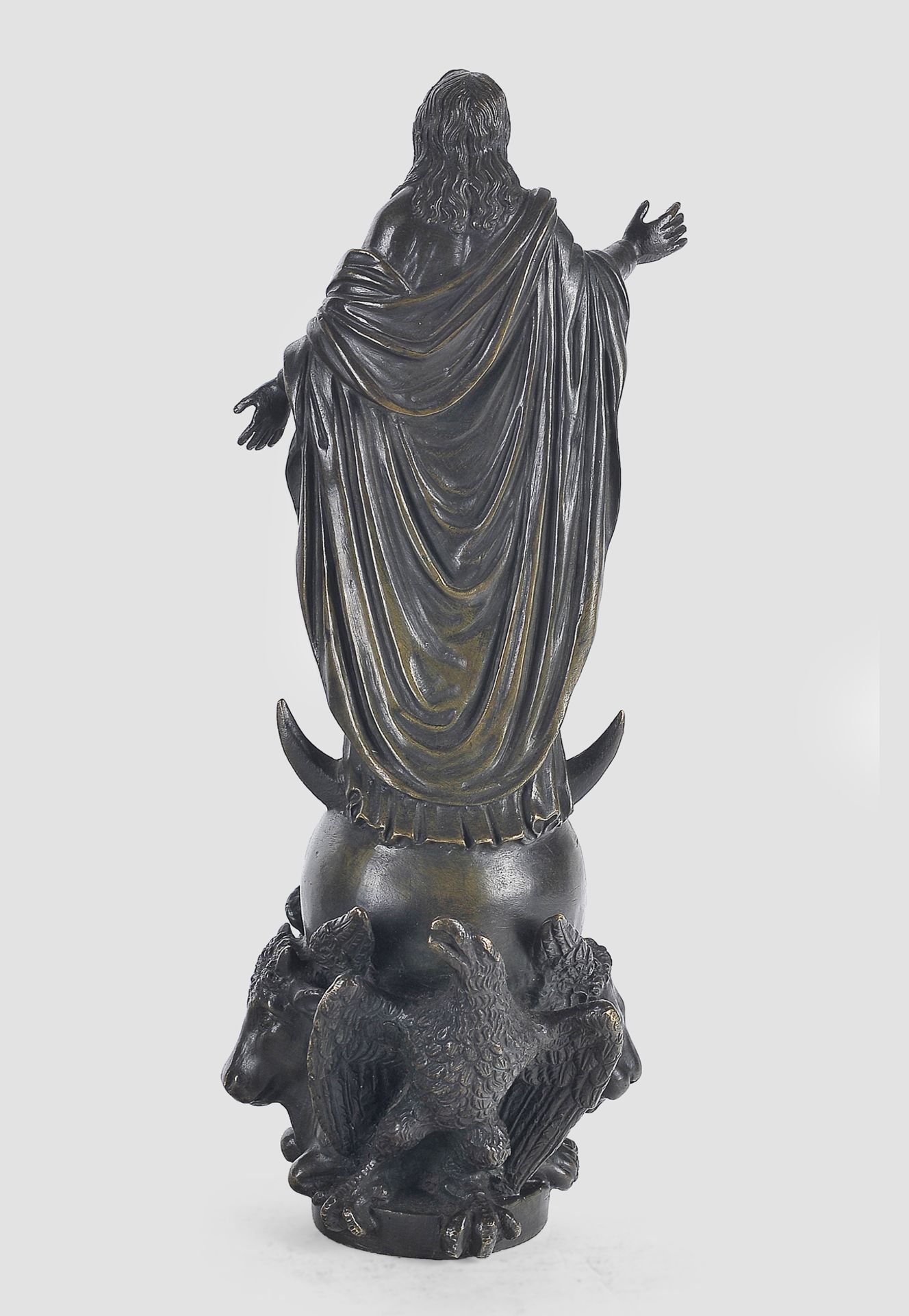 Maria Immaculata, Barock, 17. / 19. Jahrhundert, Bronze - Image 9 of 9