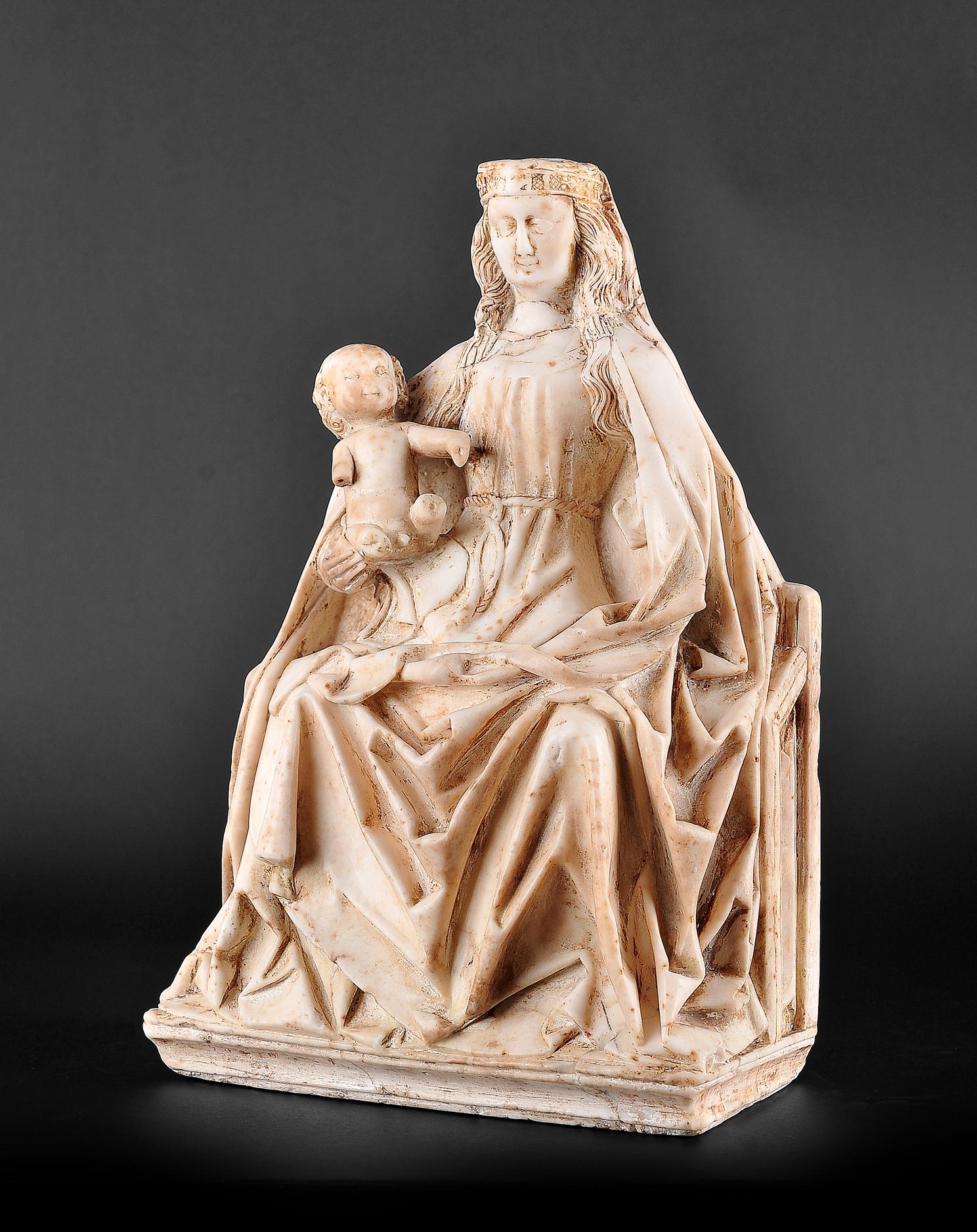 Gil de Siloe, Antwerpen 1440 – 1501 Burgos (und Werkstatt), Sitzende Madonna, um 1485/90 - Image 4 of 25
