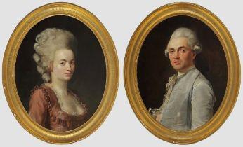 """Nicolas Guy Brenet, Paris 1728 – 1792 Paris, Portraits des Ehepaares """"Von Schauenstein"""""""
