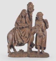 Flucht nach Ägypten, Flämisch um 1500, Eichenholz