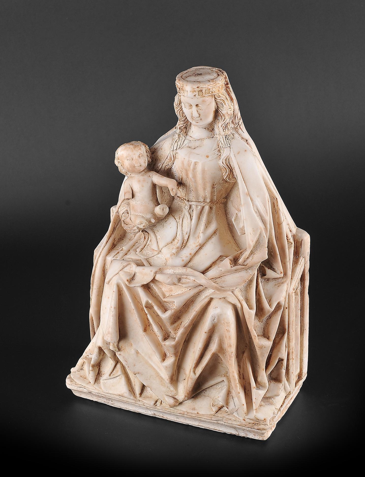Gil de Siloe, Antwerpen 1440 – 1501 Burgos (und Werkstatt), Sitzende Madonna, um 1485/90 - Image 5 of 25