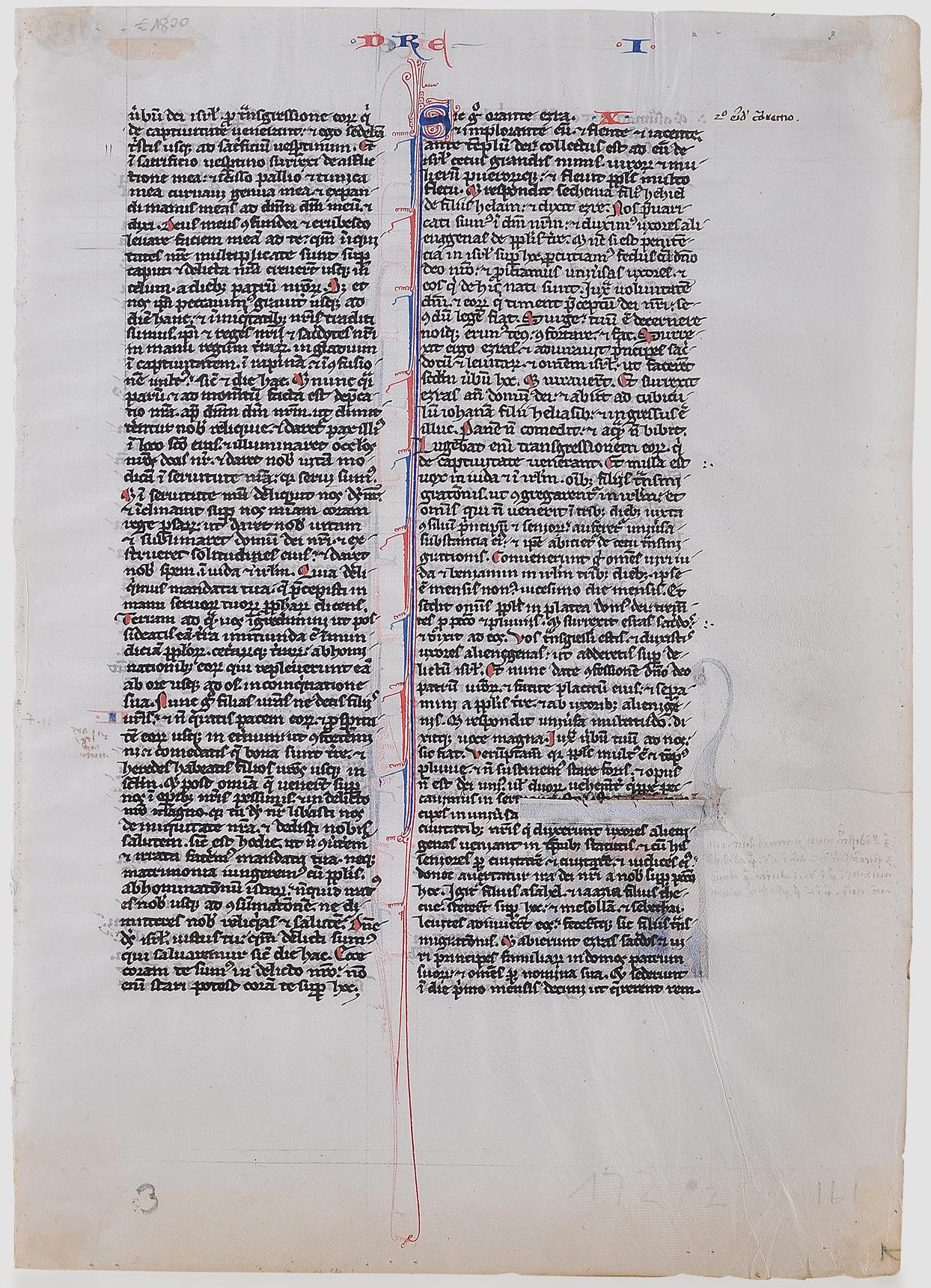 Buchmalerei, Illumination, um 1250 - Image 2 of 2