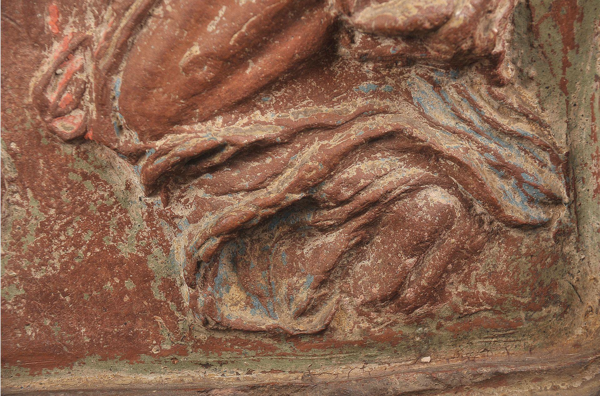 Terracotta Relief, Verkündigung Mariä - Image 8 of 9