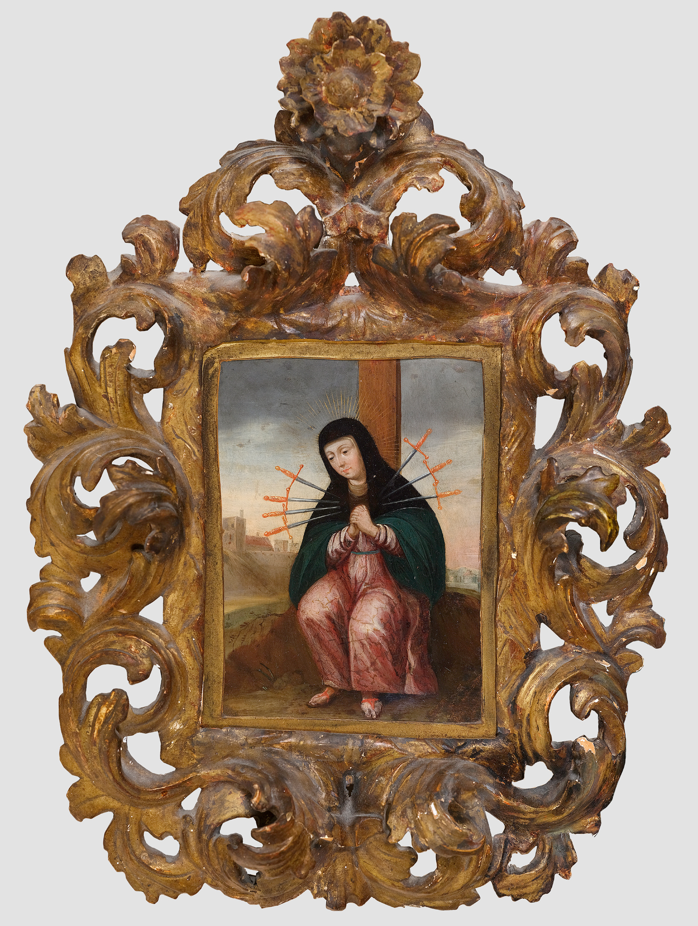 Mater Dolorosa, Gemälde, Spanien um 1700 - Image 2 of 3