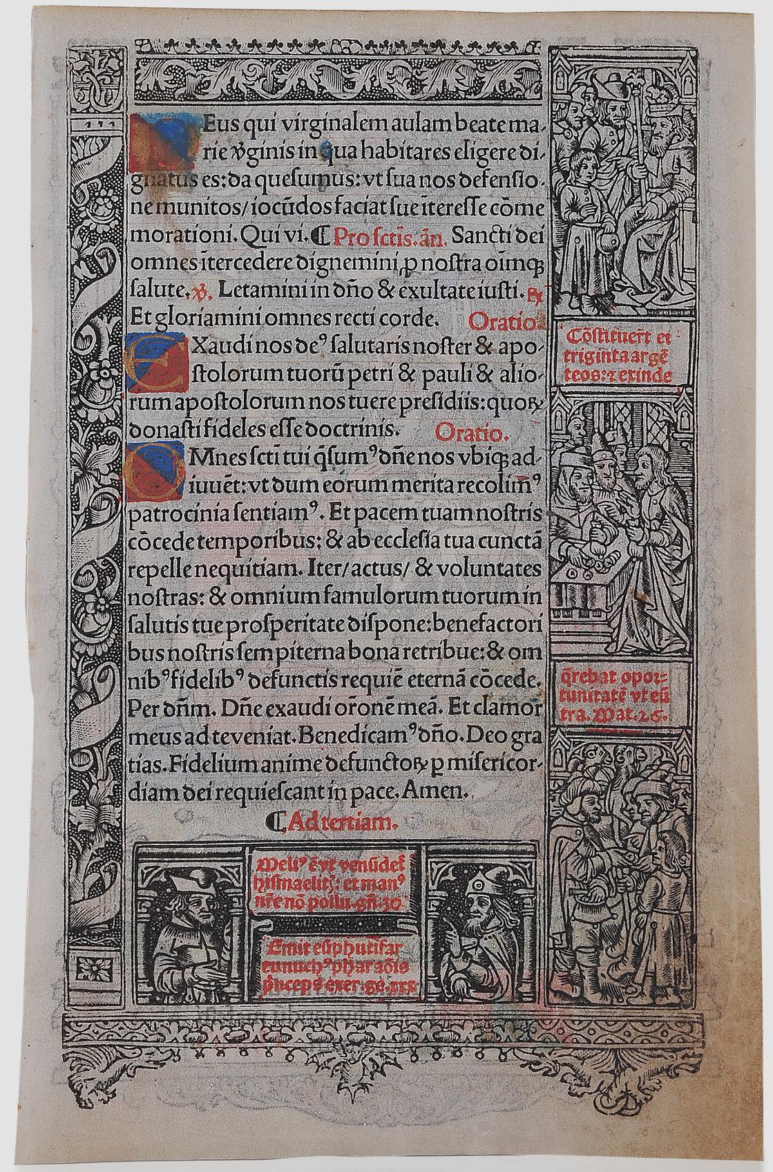 Buchmalerei, Illumination, um 1500 - Image 2 of 2