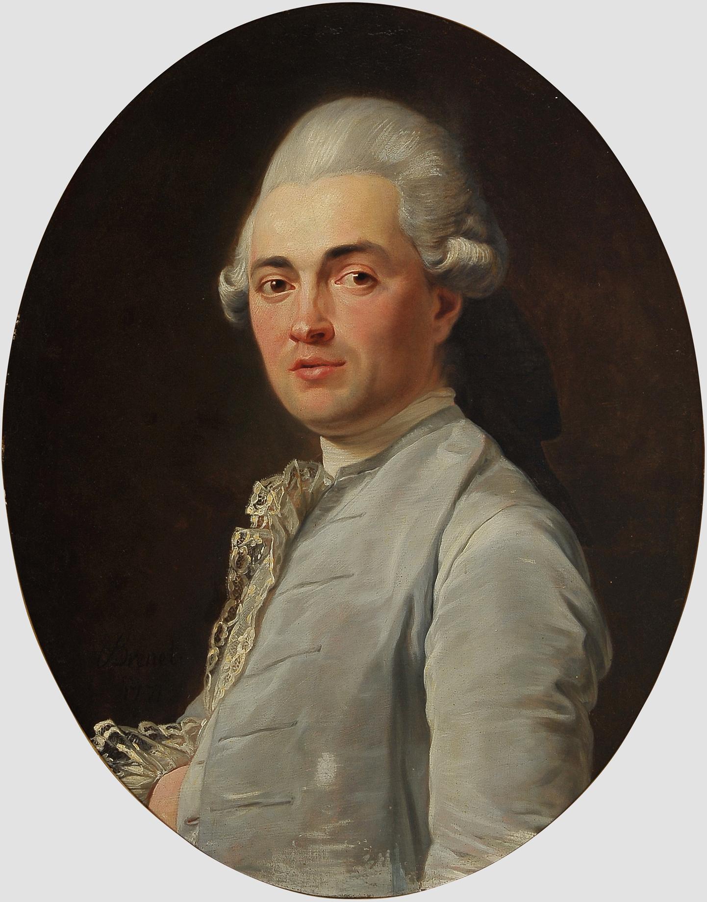 "Nicolas Guy Brenet, Paris 1728 – 1792 Paris, Portraits des Ehepaares ""Von Schauenstein"" - Image 4 of 11"