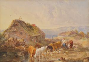 John Frederic Taylor, Elstree 1802 – 1889 London, Kühe an der Tränke