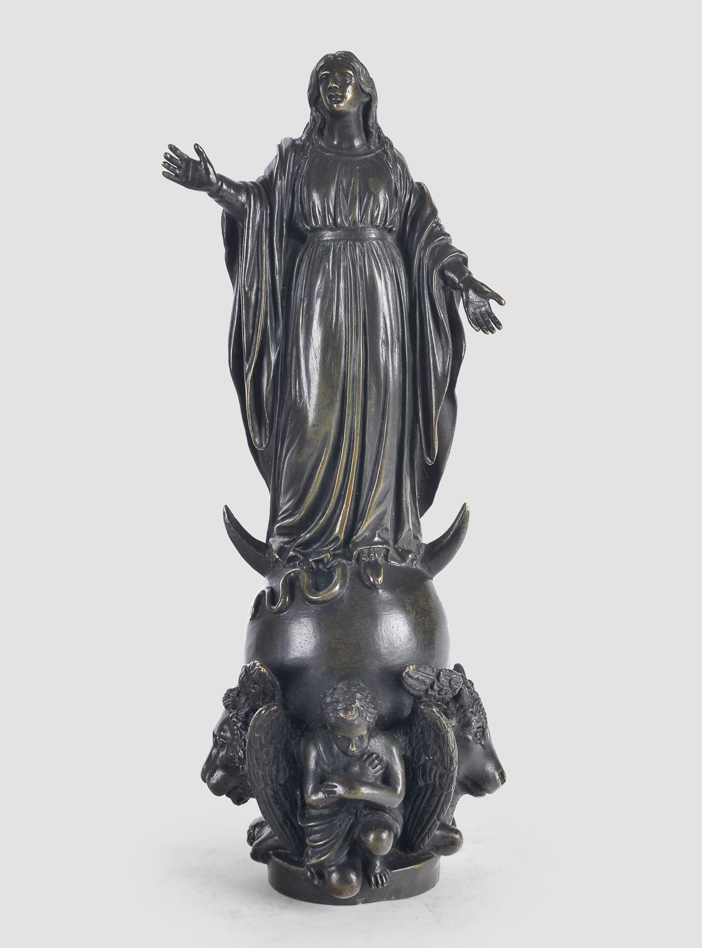 Maria Immaculata, Barock, 17. / 19. Jahrhundert, Bronze