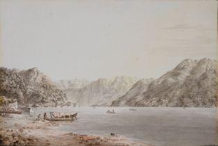 Joseph Rebell, Wien 1787 – 1828 Dresden, Boote am Lago di Como