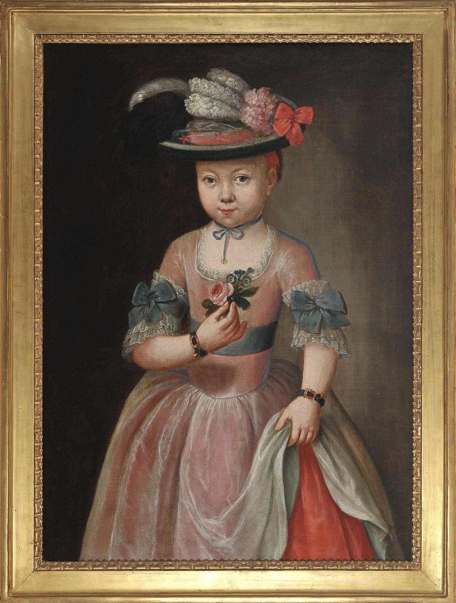 Mädchenbildnis, Österreich um 1750 - Image 2 of 6